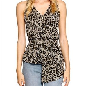 NWT Walter Baker size-S leopard print blouse